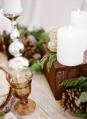 Rustic Tabletop Winter Wedding