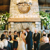Rustic Wedding Ceremony Old Edwards Inn