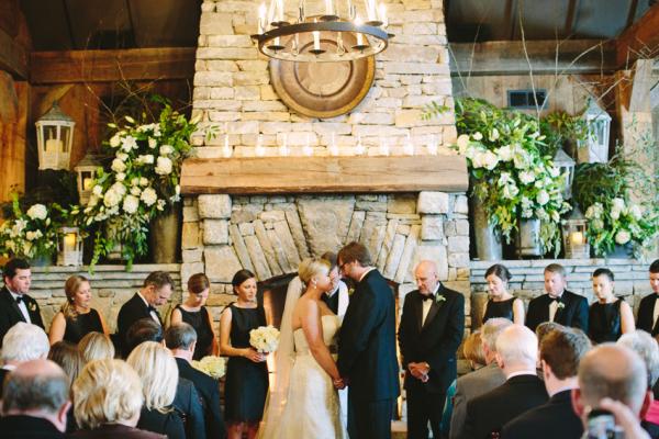 Rustic Wedding Ceremony Old Edwards Inn