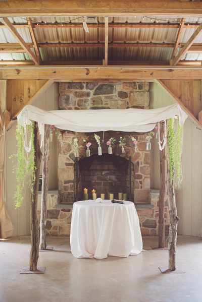 Rustic Wedding Ceremony Setup