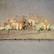 Rustic Wood and Hydrangea Wedding Decor