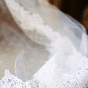 Scallop Lace on Veil