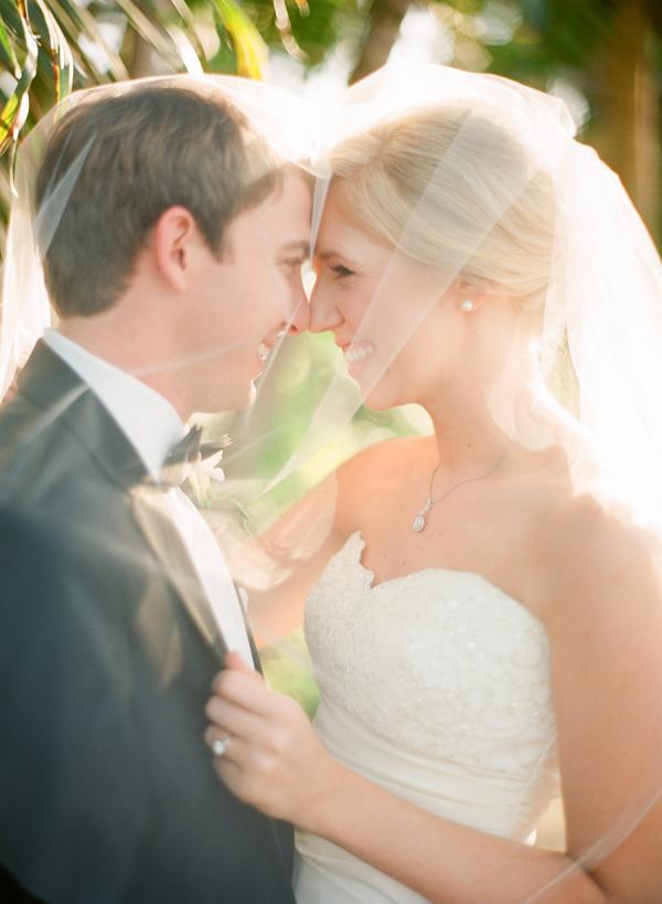 Scallop Neckline on Bridal Gown