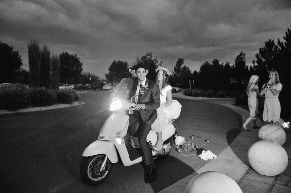 Scooter Wedding Getaway