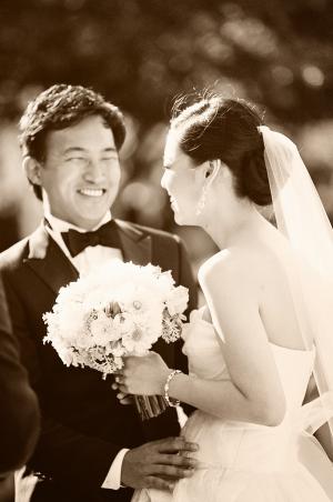 Sepia Wedding Portrait