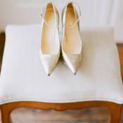 Silver Kate Spade Heels