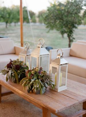 Silver Lantern Wedding Decor