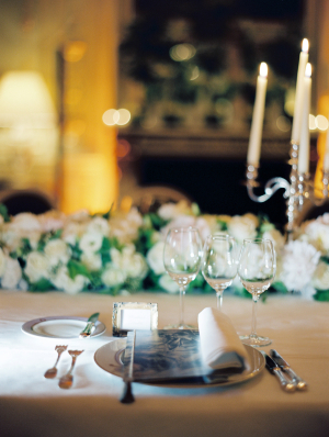 Silver Wedding Place Setting