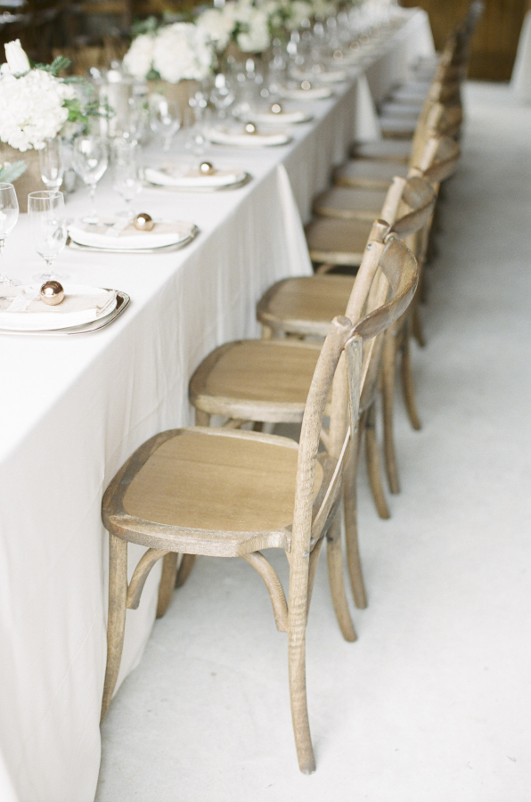 Simple Bamboo Chairs Reception Ideas