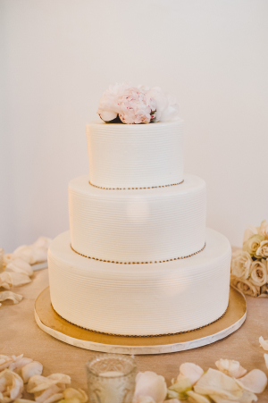 Simple Wedding Cake With Gold Details