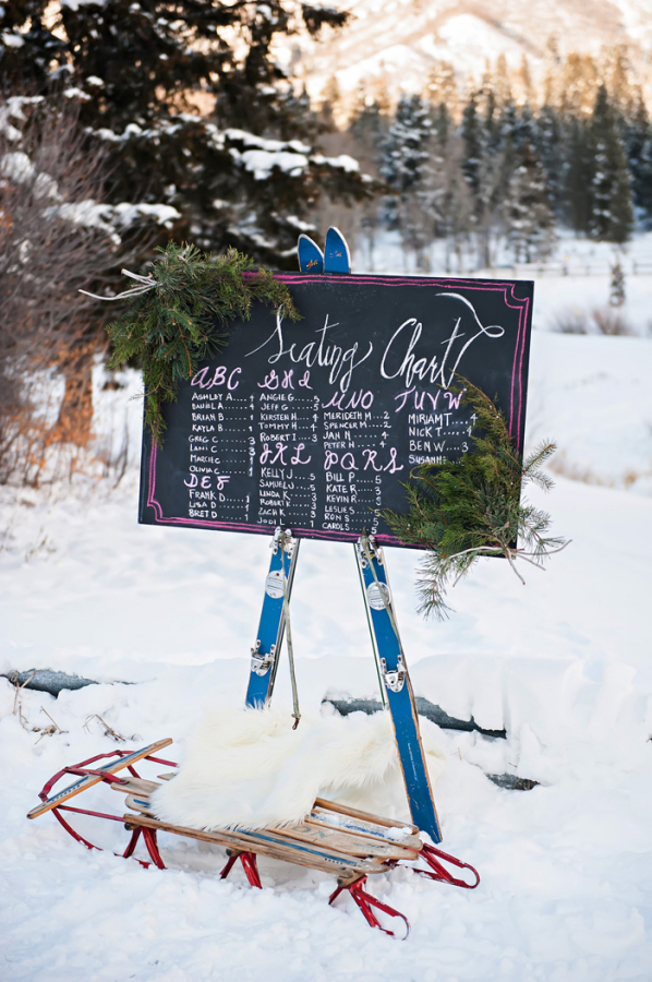 Ski Themed Seating Chart Ideas
