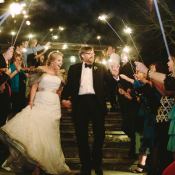 Sparkler Getaway Reception Ideas