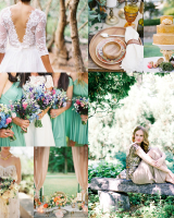 Spearmint Peach Gold Wedding Colors