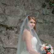 Strapless Gown With Beaded Waist