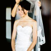 Strapless Satin Bridal Gown