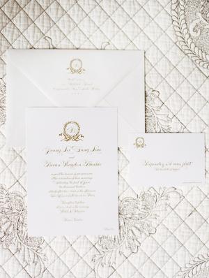 Traditional Gold Wedding Invitations