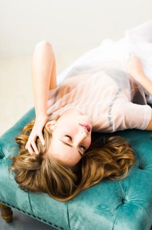 Turquoise Velvet Couch Boudoir Bridal Ideas