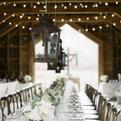 Vintage Barn Reception Decor
