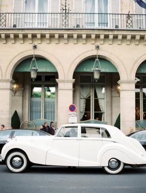 Vintage Car Paris Wedding