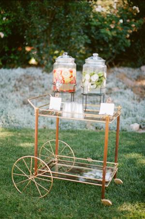 Vintage Cart Wedding Drink Station