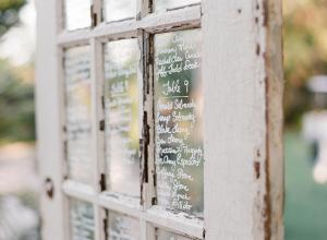 Vintage Door Reception Seating Chart Ideas