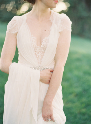 Vintage Inspired Jenny Packham Gown