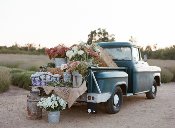 Vintage Truck with Flowers
