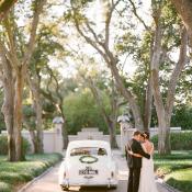 Vintage White Getaway Car