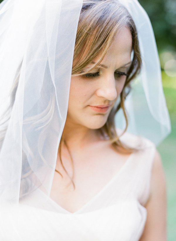 Wedding Dress with Blusher Veil