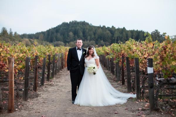 Wedding Portrait in Vineyard