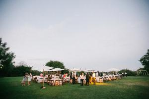 Wedding Reception on Lawn