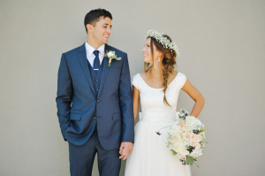 Wedding in Navy and Peach