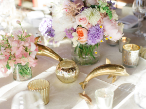 Whimsical Spring Wedding Centerpiece