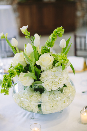 White Rose and Hydrangea Arrangement
