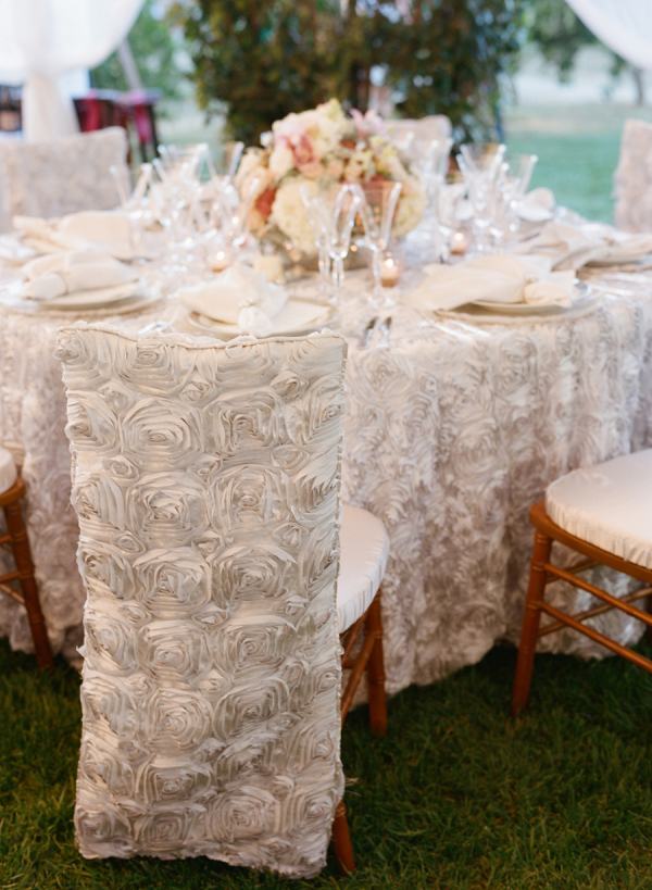 White Rosette Chair Covers