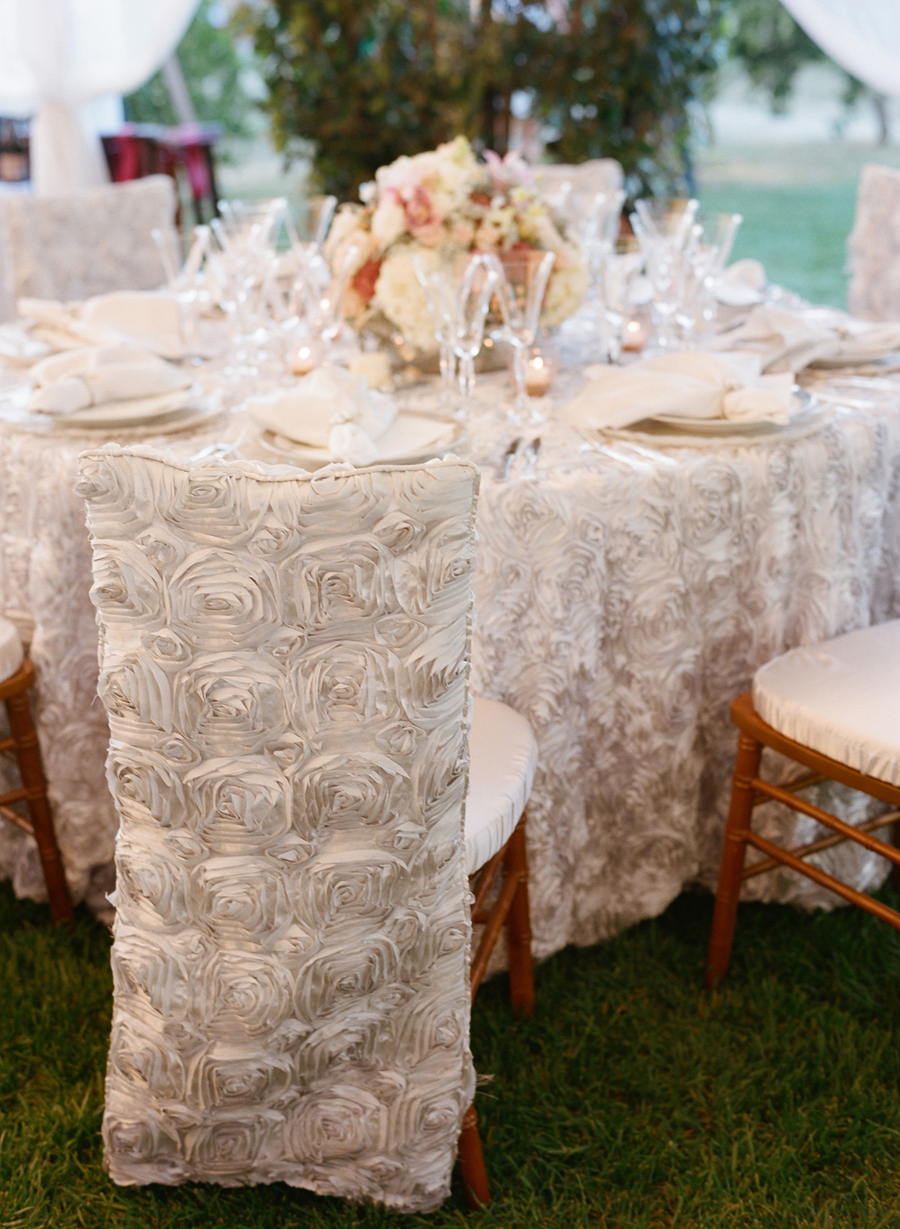 White Rosette Chair Covers Elizabeth Anne Designs The