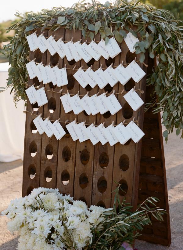 Wine Rack Escort Card Board
