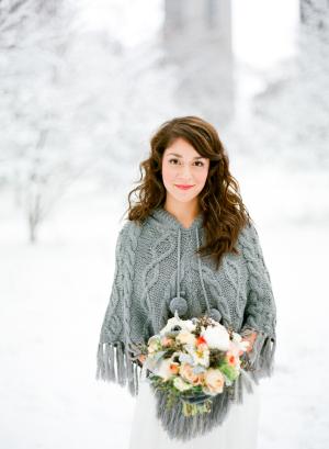 Winter Bride in Snow