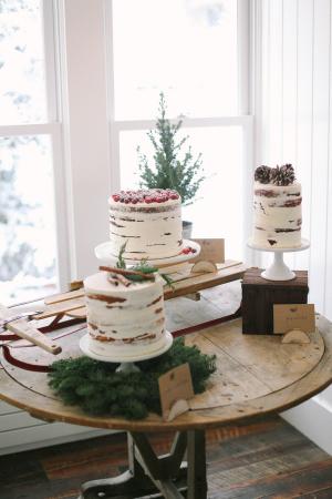 Winter Wedding Cake Display
