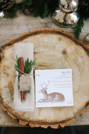 Wood Charger Wedding