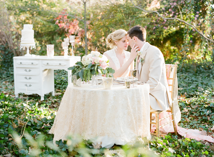 Romantic Vintage Wedding Inspiration From Michael Carina Photography