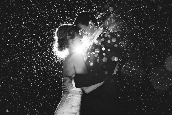 Amazing Black and White Wedding Photo