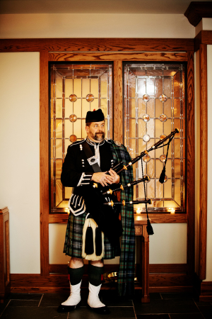 Bagpiper at Wedding Ceremony