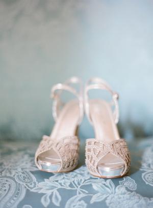 Beaded Bridal Platform Sandals