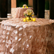 Blush Pink Reception Cocktail Tables