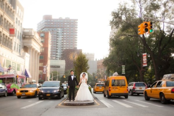 Bride and Groom Portrait Downtown NYC