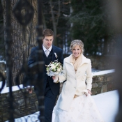 Bride in Winter Coat