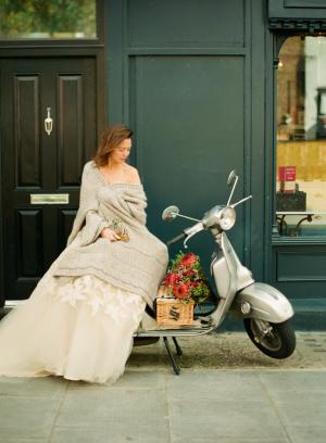 Bride on Vespa