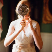 Bride with Vintage Mirror
