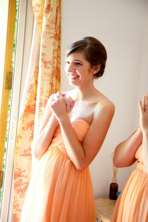 Bridesmaid in Peach